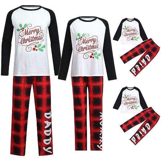 034a7ff573be Amazon.com  Family Christmas Pajamas Sets Family Matching Outfits Matching  Christmas Pajamas Family Outfits Women Men Kids Pajamas  Clothing