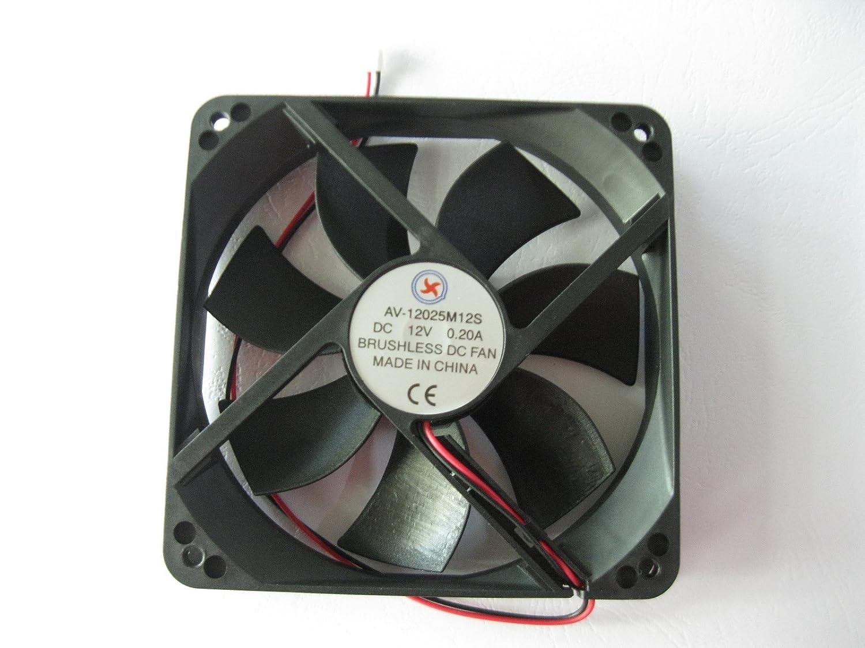 1 Pcs DC Fan 12V 12025 2 Pin 120X120X25mm Brushless DC Cooling Blade Fan