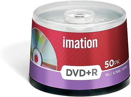 Imation I21750 - Pack de 50 DVD+R, 4.7 GB: Amazon.es: Informática