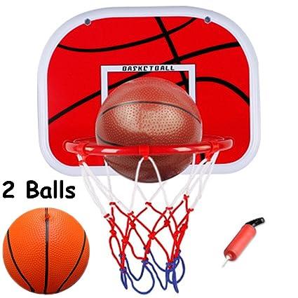 WoBoSen Dentro de Mini Aro de Baloncesto en la Sala de Oficina Mini Baloncesto Junta Niños Deportes de Ocio con Balón y Bomba (Mini Juego de ...