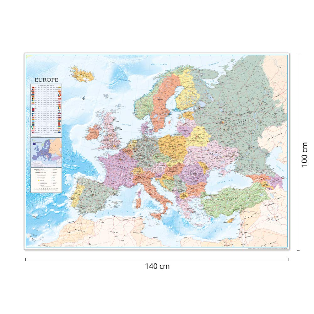Close Up Europakarte XXL Poster Flaggen (135cm x 100cm): Amazon.es: Hogar