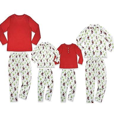 amazoncom funny family christmas pajamas sleepwear set kids aldults matching clothes jersey clothing