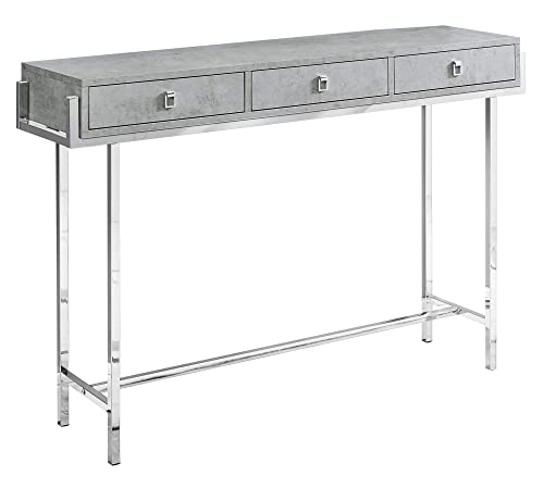 Monarch Specialties I 3298 Accent Table, Grey