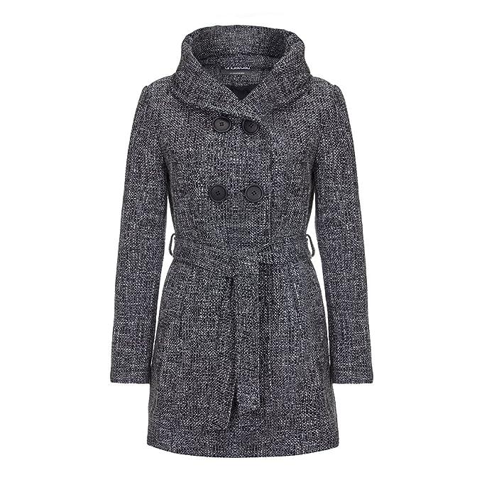 Tweed Cinturón Capucha De Abrigo Anastasia En Con Invierno Y na4BTw6Cqx