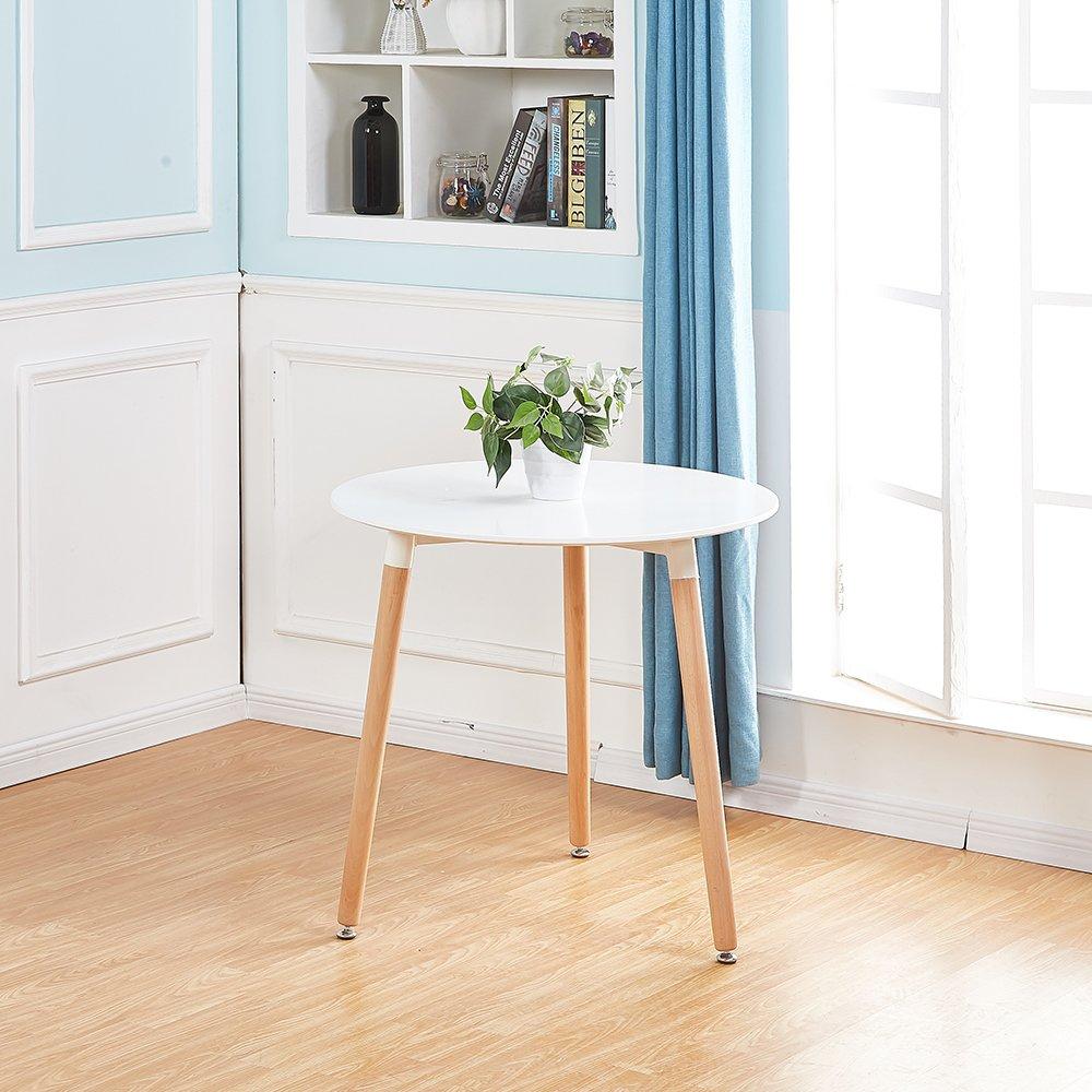 Esstisch Rund Küchentisch Modern mit 4er Set Retro Stühlen