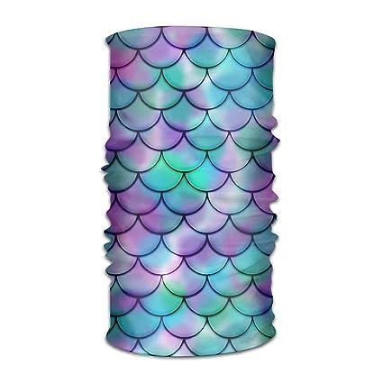 Sombrero almohada hombre mujer pequeña sirena pescado báscula diaria pañuelo protección UV microfibra deportes diadema bandanas