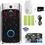Video Doorbell Camera (2020 Upgraded), Wi-Fi with Smart PIR Motion Detection, Wide Angle, Night Vision, Real-Time Notificatio