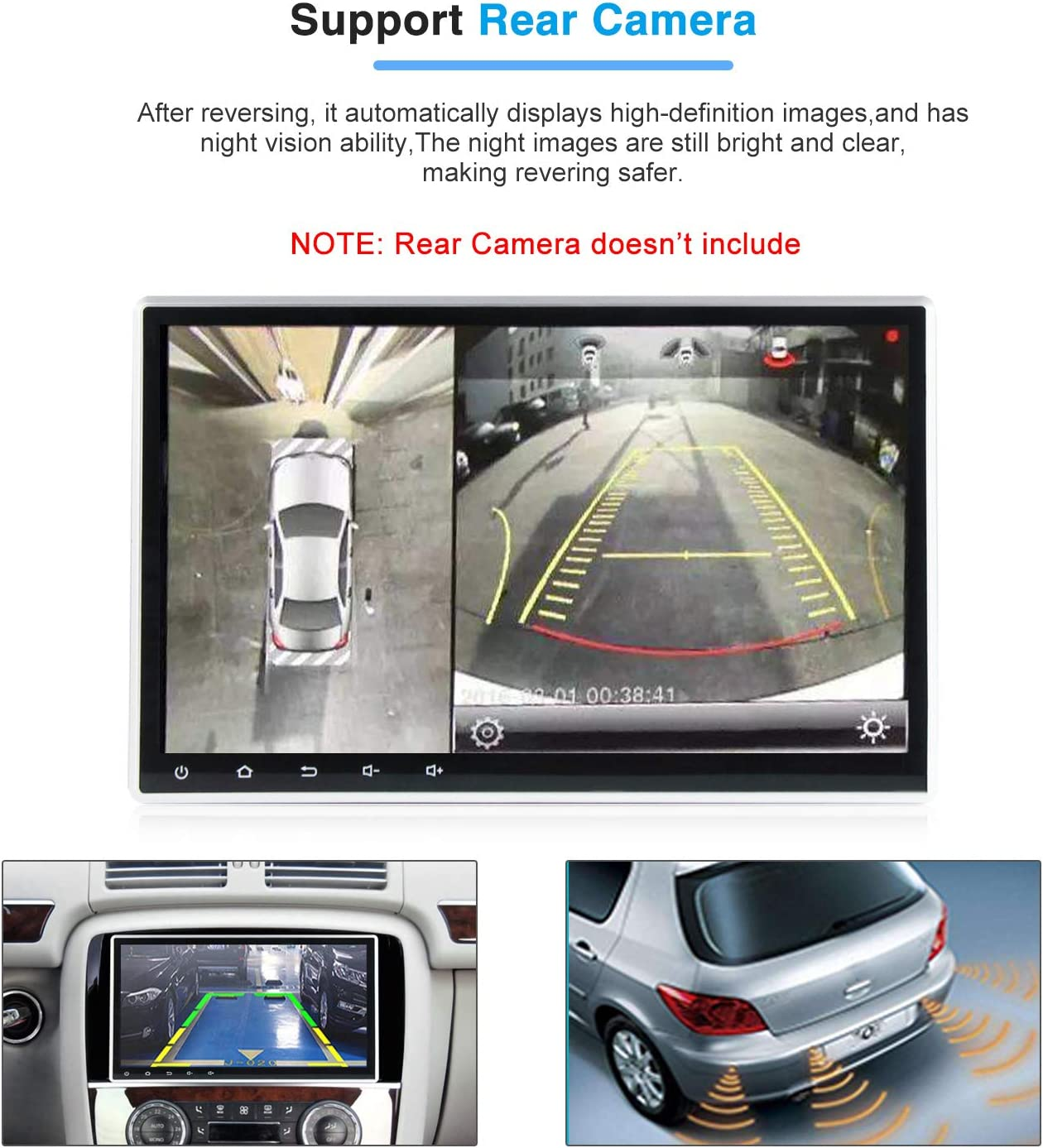 Android 10.0 OS 10.1 Inch 2 Din Adjustable Screen Car Stereo /IPS DSP 2G RAM Car Radio for Car Touch Screen PX30 Car Multimedia Navigation Support Bluetooth WiFi
