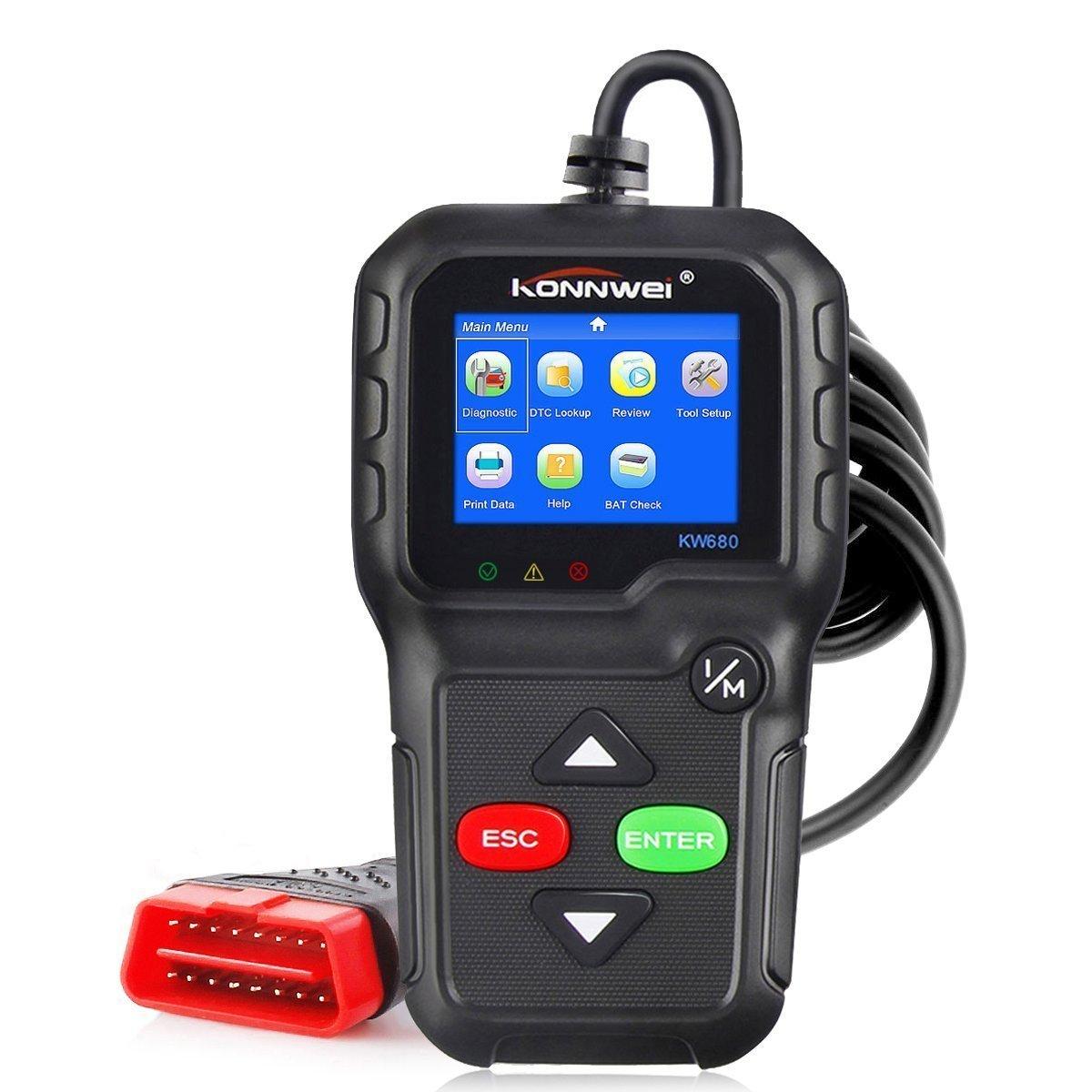 HuaRui obd2車コードリーダー自動診断、エンジンチェックライトKONNWEI kw680 OBDII obd2スキャンツール B078YXY528