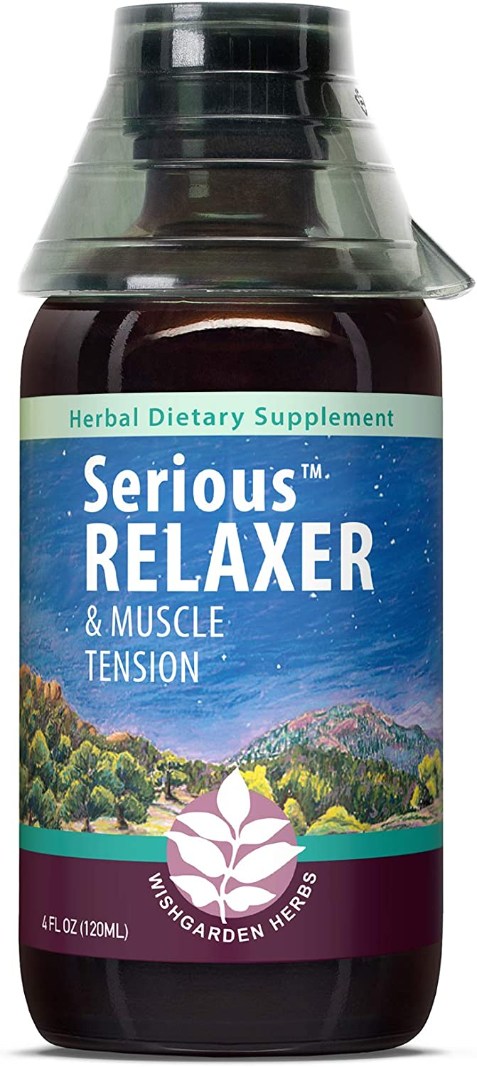 WishGarden Herbs Serious Relaxer - All Natural Relaxing Muscle Supplement, Muscle Recovery Tincture with Organic Wild Lettuce Extract, Soothes Muscle Tension (4oz)