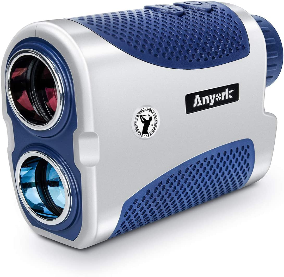 Anyork Golf Rangefinder 6X Laser Range Finder with Slope On/Off,Flag-Lock Tech with Vibration, Continuous Scan Support-with Battery