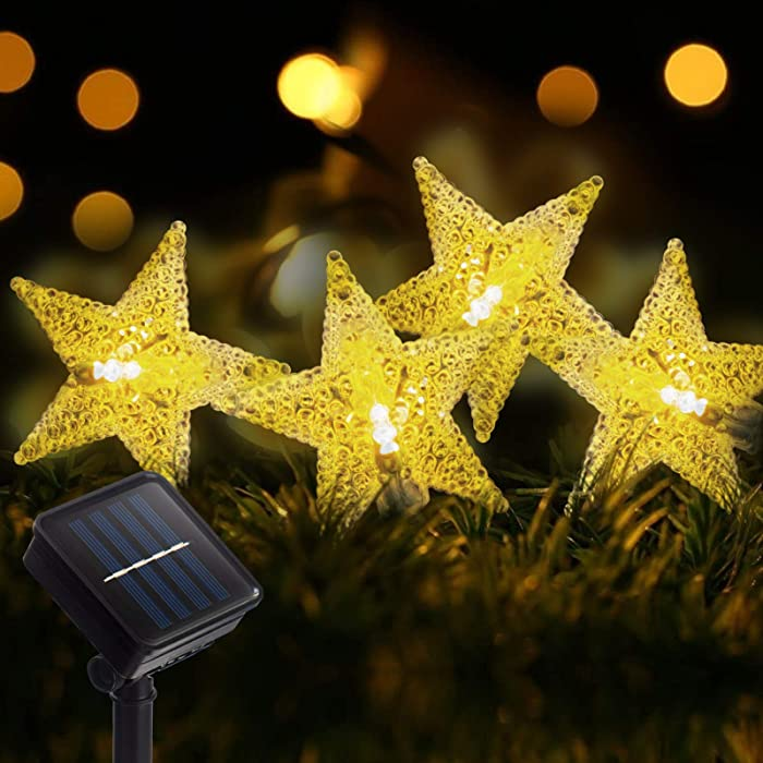 The Best 12 Led Solar Powered Garden String Lights Staars
