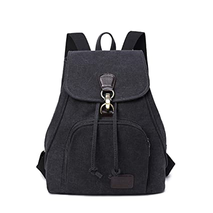 WITERY Vintage Design Trendy Rucksack... Women Ladies Retro Canvas Backpack
