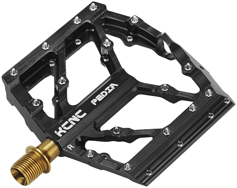 KCNC Slim MTB BMX Pedia Plattform Pedale SS TiN Spindle schwarz 2018 Dirt-Pedale Dirtbike-Pedale