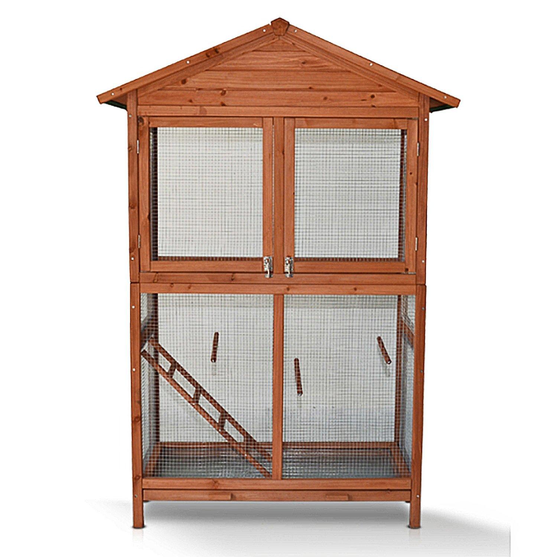 ZooPrimus Hühner-Stall Nr 020 Geflügel-Voliere VOGELVOLIERE-XL Enten-Haus für Außenbereich (Geeignet für Kleintiere: Hühner, Geflügel, Vögel, Enten usw.)