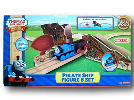 Thomas The Train Wooden Railway Exclusive Pirate Ship Figure 8 Set
