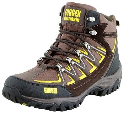 GUGGEN Mountain Herren Damen Wanderschuhe Bergschuhe Wasserdicht Outdoor-Schuhe Walkingschuhe HPM51, Farbe Braun, EU 37