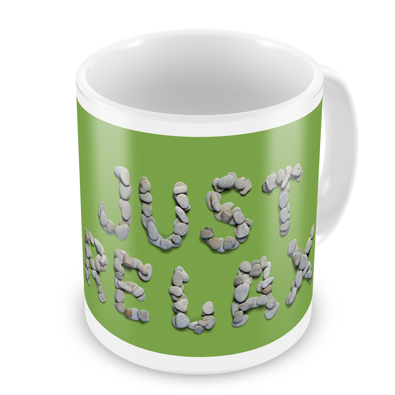 Coffee Mug Just Relax Spa Stones Rocks - NEONBLOND