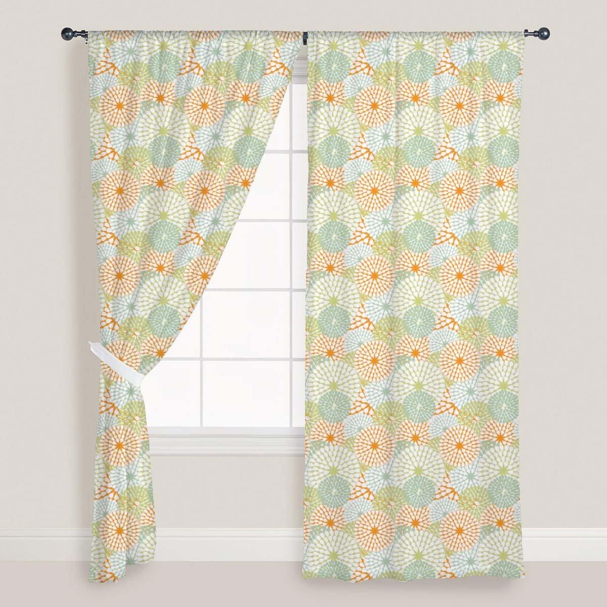 AZ Floral Texture Door & Window Curtain Satin 4feet x 11feet; SET OF 3 PCS