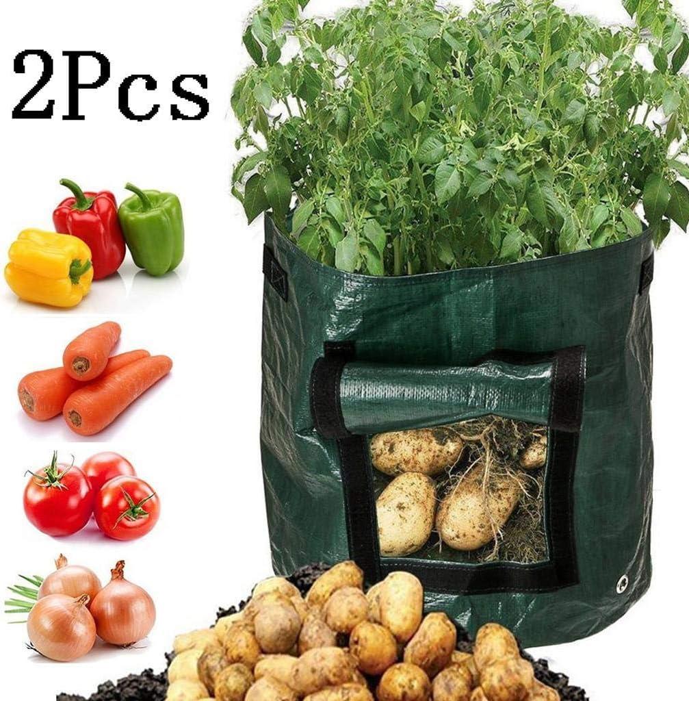 Barlingrock 2Pcs Growing Bag DIY Potato Grow Planter PE Cloth ...