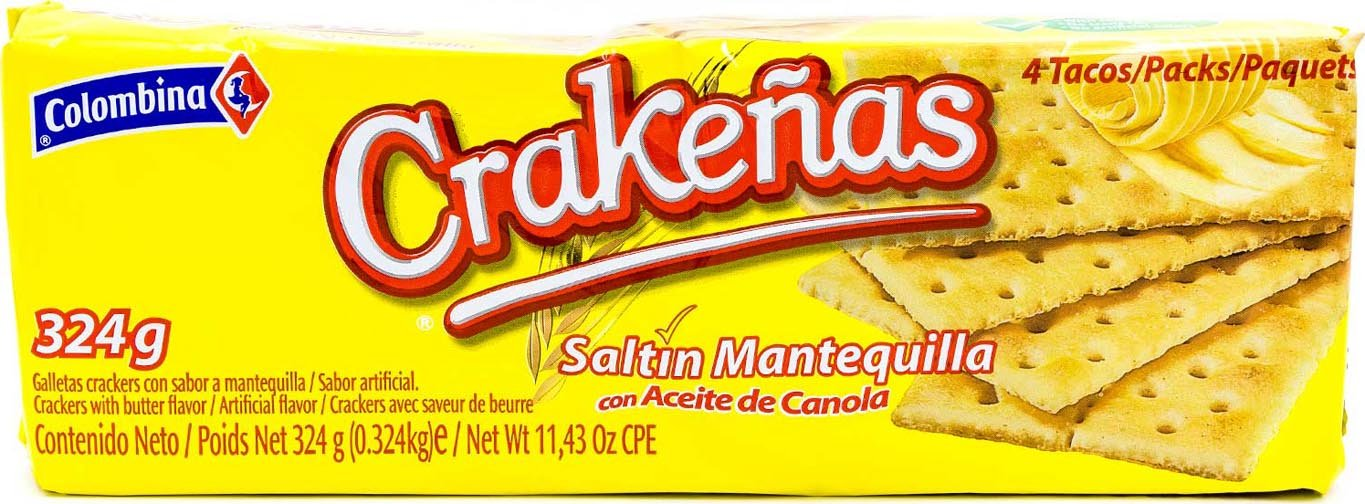 Amazon.com : Colombina Crakenas Saltin Mantequilla, 5.7 Ounce (Pack of 12) : Grocery & Gourmet Food