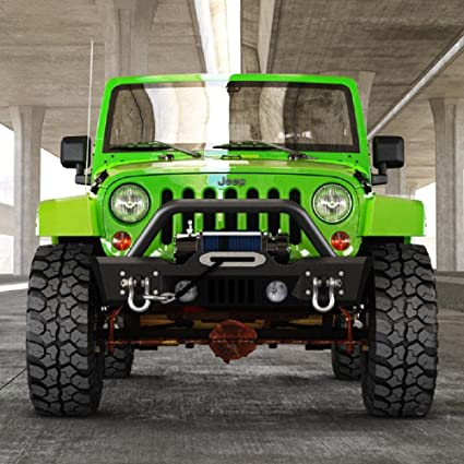 Jeep Wrangler Jk Front Bumper >> Amazon Com Front Bumper For 07 18 Jeep Wrangler Jk Stubby With Oe