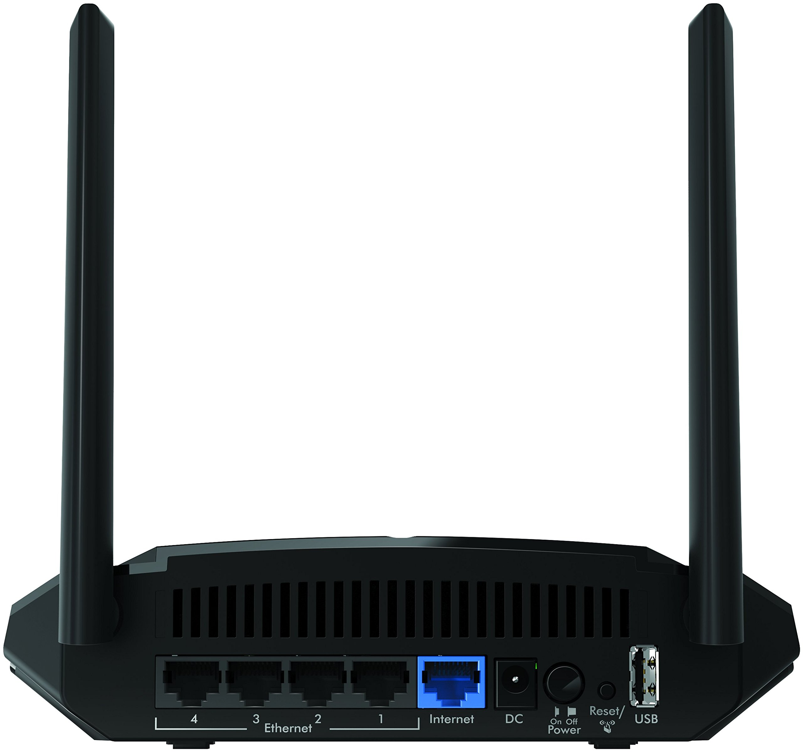 Netgear wifi router (r6120) - ac1200 dual band wireless speed (up to 1200 mbps) | up to 1200 sq ft coverage & 20 devices… 5 fast wifi performance: get up to 1200 sq ft wireless coverage with ac1200 speed (dual band up to 300 + 900 mbps). Recommended for up to 20 devices: reliably stream videos, play games, surf the internet, and connect smart home devices. Wired ethernet ports: plug in computers, game consoles, streaming players, and other nearby wired devices with 4 x 10/100 fast ethernet ports.