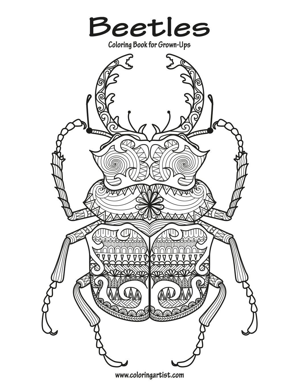 beetles coloring book for grown ups 1 volume 1