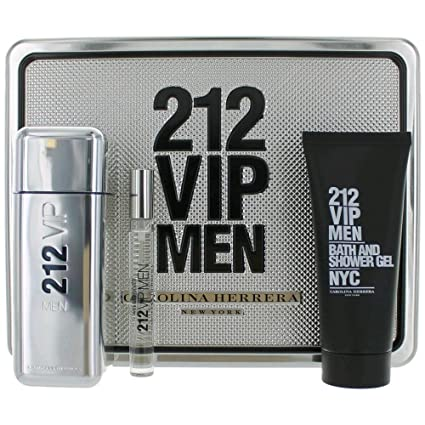 Carolina Herrera Vip Men Set de Agua de Colonia, Gel de Ducha y Agua de