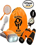 Adventure Kids - Educational Outdoor Children's Toys - Binoculars, Flashlight, Compass, Magnifying Glass, Butterfly Net & Backpack. Explorer Kit Great Kidz Gift Set For Birthday, Camping & Hiking