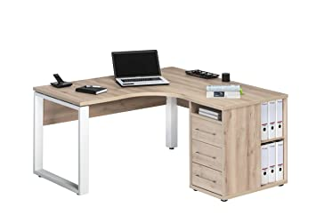Bureau dangle avec sous meuble en hêtre 1458: amazon.fr
