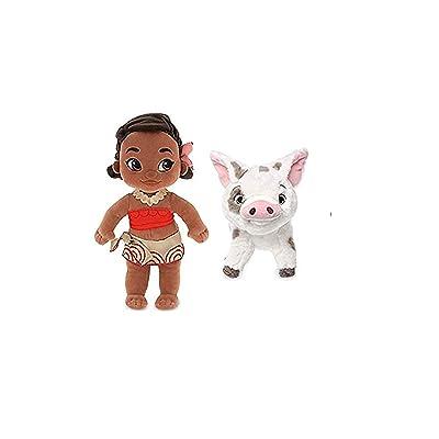 "Disney Bundle: Moana 12"" Plush Toddler Doll & 9"" Plush Pet Pig PUA: Toys & Games"
