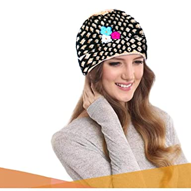 Rapidsflow® Hand Knitted Woolen Winter caps for Women and Girls Free Size  Suitable for All 37448881c3c