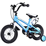 Goplus BMX Freestyle Kids Bike Boy's and Girl's Bicycle with Training Wheels Perfect Gift for Kids, 12""