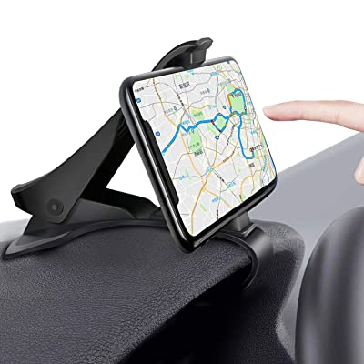 Car Phone Holder,Car Mount,GPS Holder Safe Driving HUD Design, Durable Dashboard Cell Phone Holder for iPhone X/8/8 Plus/7/7 Plus/6/6 Plus/SE, Samsung Galaxy S8 Note 8, Within 6.5 Inches Smartphone
