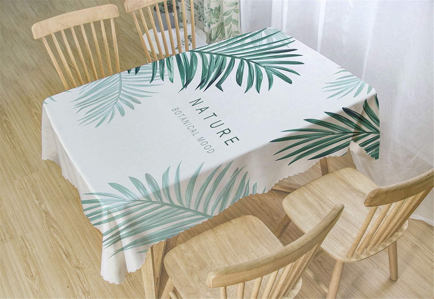 Chickwin Manteles Antimanchas Poli/éster Mantel para Mesa Rectangular de Cocina Mantel Antimanchas Transpirable,Restaurante Cocina 80x120cm,Verde