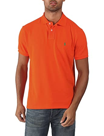 Ralph Lauren - Polo para hombre - Custom fit - Naranja élite ...
