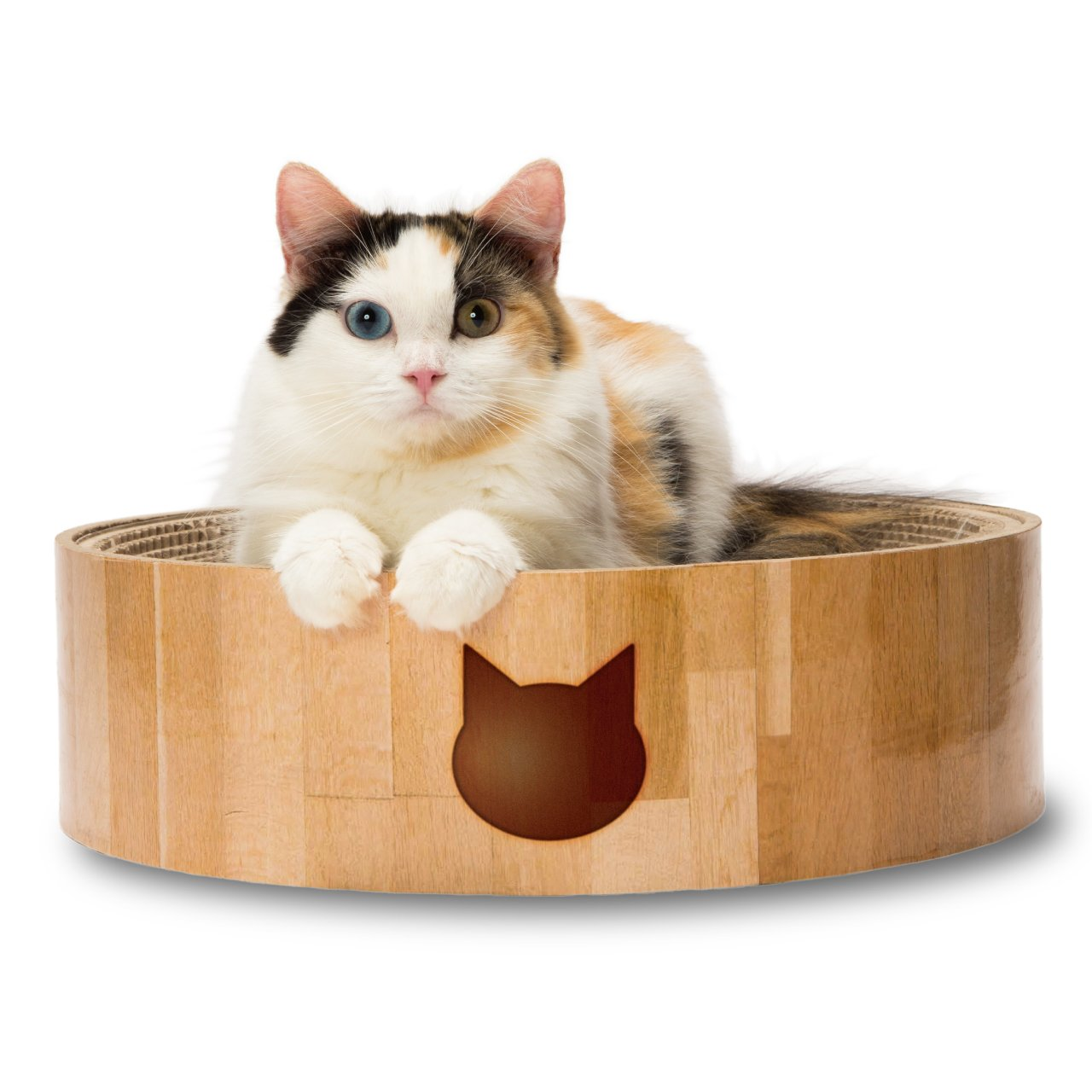 Necoichi Cozy Cat Scratcher Bowl (Cat) by Necoichi