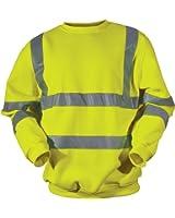 Blackrock Yellow Hi Vis Sweatshirt 2 Band & Brace