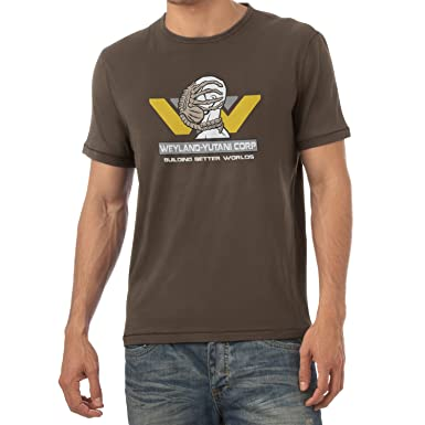 Texlab Weyland Yutani Facehugger - Herren T-Shirt, Größe S, Braun
