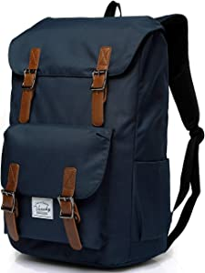 Vaschy Men Backpack Water-resistant Hiking Daypack Travel School Backpack