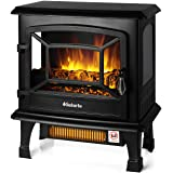 TURBRO Suburbs TS20 Electric Fireplace Infrared Heater, Freestanding Fireplace Stove with Realistic Dancing Flame Effect - CS