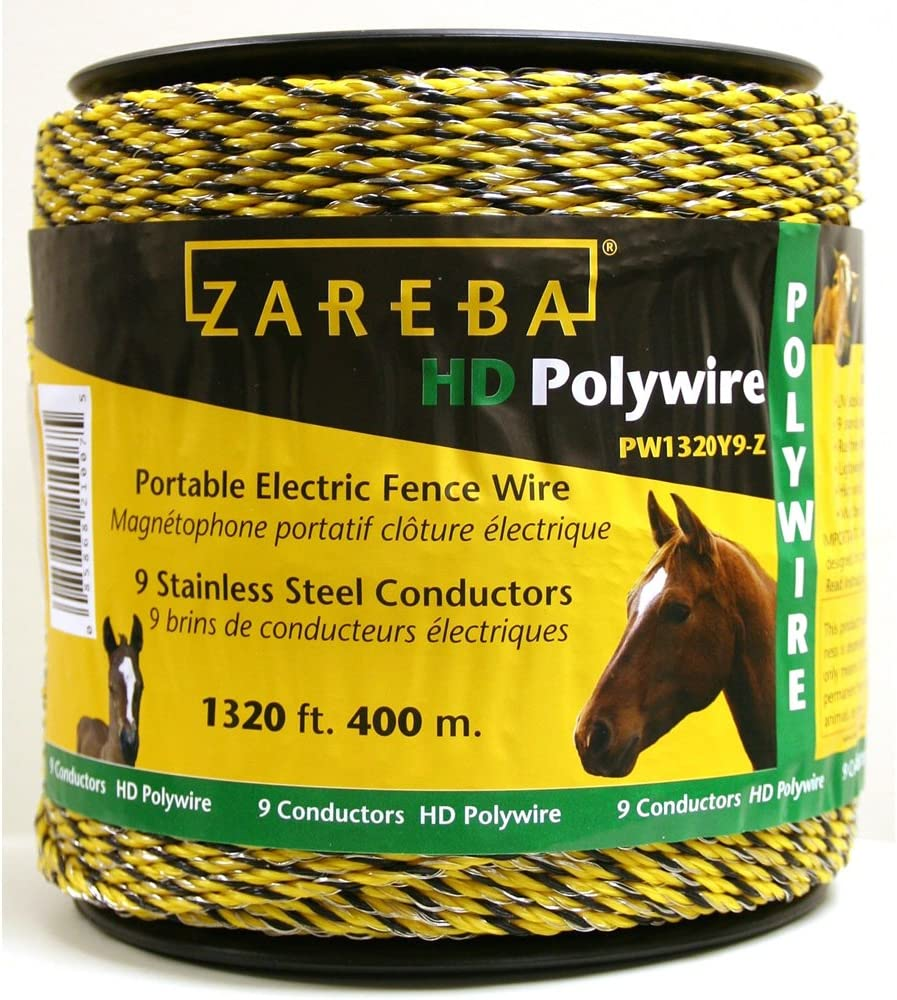 Farmily Portable Electric Fence Polywire UV Stabilized 1312 Ft 400 M 6 Conductor