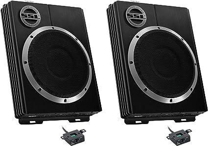 "SOUNDSTORM LOPRO8 8/"" 600W UnderSeat Low Car Audio Subwoofer Powered Sub SSL"