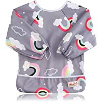 KIDSALON 2Pcs Toddler Baby Waterproof Sleeved Bib with Sleeves&Pocket,6-24 Months (style-014)