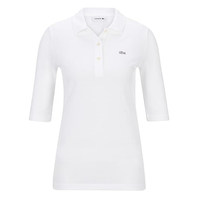 Lacoste - Polo - para Mujer White(001) 34: Amazon.es: Ropa y ...