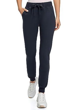 oodji Ultra Mujer Pantalones de Punto con Cordones: Amazon.es ...