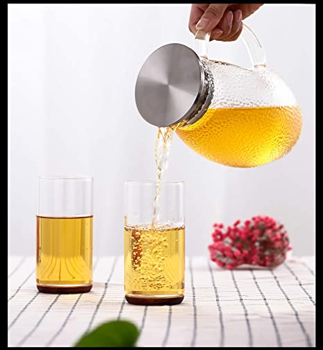 Tetera De Cristal Cold Kettle Botella De Agua Chino Japonés Kungfu Premium Espesar Hogar Alta Capacidad De Alta Temperatura Resistencia Vaso De Vidrio Jug ...