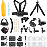 AKASO Outdoor Sports Action Camera Accessories Kit 14 in 1 for AKASO EK7000/ EK7000 Plus/ EK7000 Pro/Brave 4/ V50/ V50…
