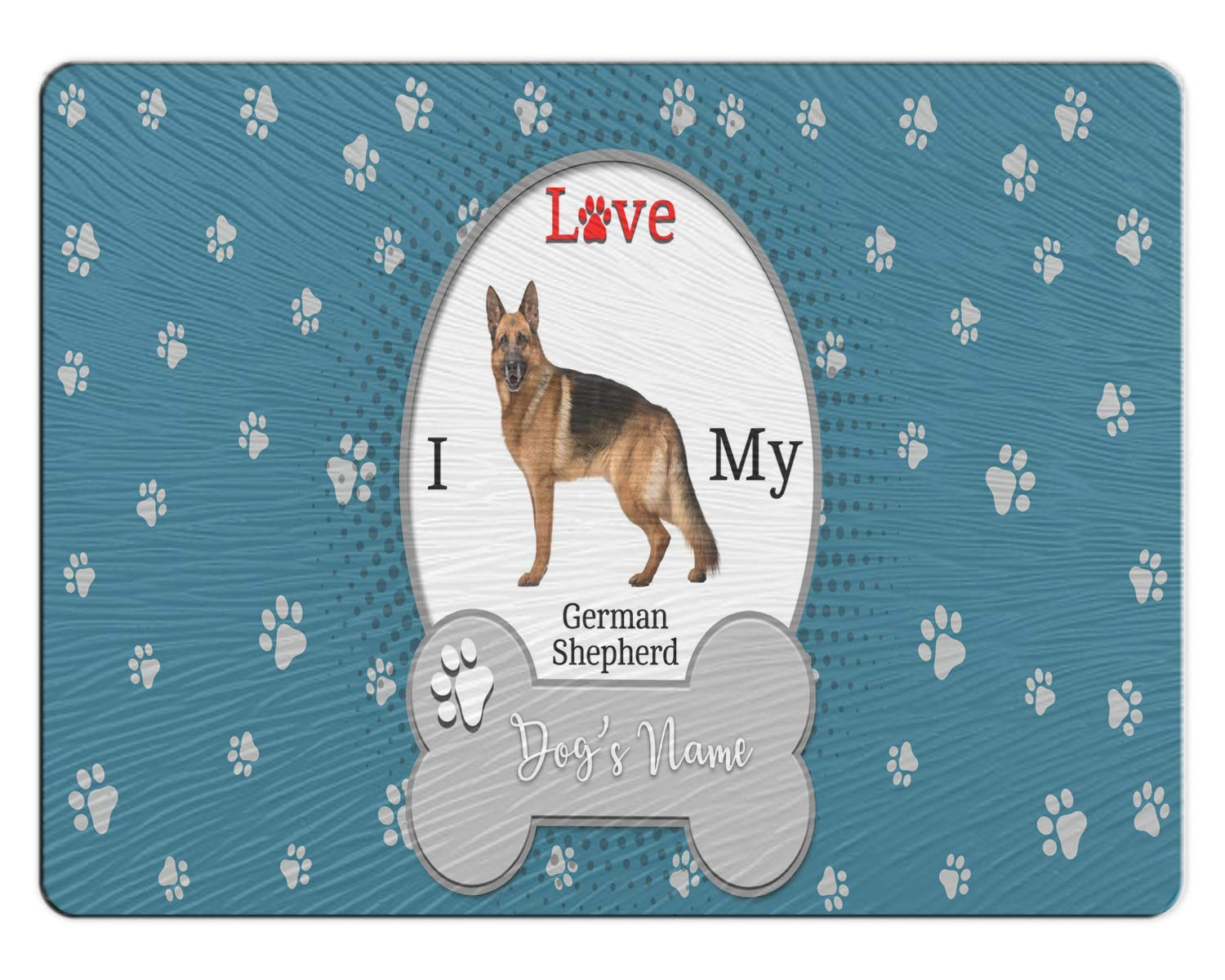 05e3c68edc4c Amazon.com: BRGiftShop Personalize Your Own I Love My Dog German ...
